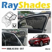 HAVAL H2 2016 - 2017 RayShades UV Proof Magnetic Sun Shades *6pcs