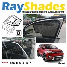 HAVAL H1 2014 - 2017 RayShades UV Proof Magnetic Sun Shades *6pcs