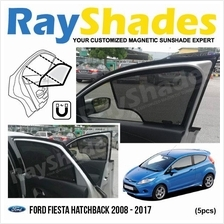 FORD FIESTA 2008 - 2017 RayShades UV Proof Magnetic Sun Shades *5pcs