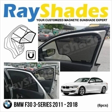 BMW F30 3-Series 2011-18 RayShades UV Proof Magnetic Sun Shades *6pcs