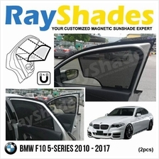 BMW F10 5-Series 2010-17 RayShades UV Proof Magnetic Sun Shades *2pcs