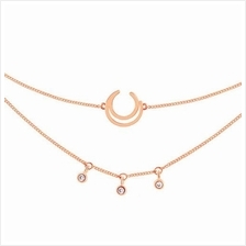 ASTRID&MIYU WISHBONE CHOKER IN ROSE GOLD)