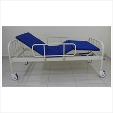 H.ospital bed 2 function + side rail + mattress +wheel wholesale price