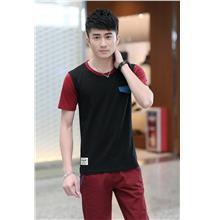 Fashion Mix Colour Men T-shirt (Black)