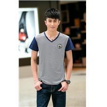Fashion V Stripe Men T-shirt (Dark Blue)