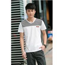 Smart Stripe V Men T-shirt (White)