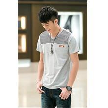 Smart Stripe V Men T-shirt (Grey)