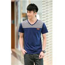 Smart Stripe V Men T-shirt (Dark Blue)