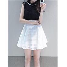Princess Lace Show-slim Dress (Top Black)