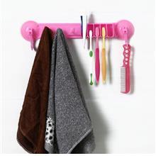 Creative 2 In 1 Toothbrush Holder Storage Rack with Sucker