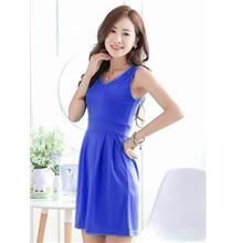 Elegant Show-slim Dress (Sapphire Blue)