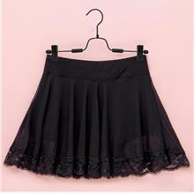 Polyester Skirt with Inner Shorts (Black)