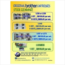 BROTHER ORIGINAL  CARTRIDGES STOCK CLEARANCE