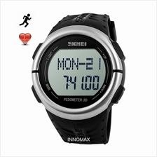 SKMEI Sports Watch 1058 - Heart Rate Pedometer Stop Watch Water Resist