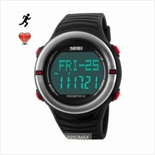 SKMEI Sports Watch 1111 - Heart Rate Pedometer Stop Watch Water Resist