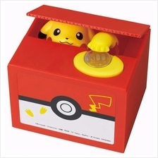 PIKACHU Cute Steal Coin Music Bank Money Bank Saving Box Toy Gift