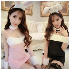 A219 SEXY RABBIT COSPLAY SUIT - Sexy Lingerie Women Fashion Dress Baju