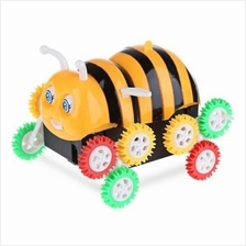 ELECTRIC CARTOON BEE BUCKET STUNT CAR TOY AUTOMATIC FLIP (COLORMIX)