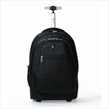 Swiss Gear Wheeled Backpack Fits 17-Inch Notebook Laptop