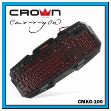 CROWN MICRO Wired Multimedia Gaming Keyboard with Backlight CMKG-100