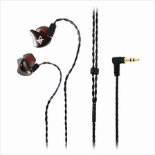 R8 SINGLE MOVING COIL METAL STEREO HIFI CORD REMOVABLE IN-EAR EARPHONE