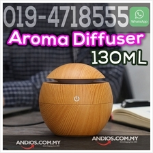 130ML Cool Mist Air Humidifier Ultrasonic Aroma Essential Oil Diffuser