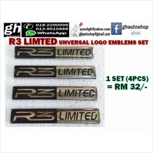 R3 LIMITED universal logo emblems set (4pcs)
