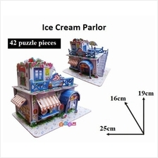 Educational 3D Puzzle DIY Toys Game Gift kids - Ice-Cream Parlor