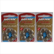 Hearing aid battery 675 zinc air  A 675 batteries pack of 6 pieces X 3