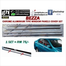 BEZZA chrome door window trims cover set (4pcs)