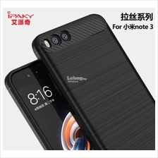 XIAOMI MI NOTE 3 IPAKY Durable CARBON FIBER TPU Case