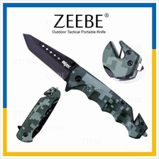 ZEEBE Outdoor Camping Folding Spring Assisted Tactical Knife Knives 01