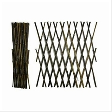 DIY HEIGHT 40 CM NATURE STRETCH WICKER FENCE FENCING NETTING HOME
