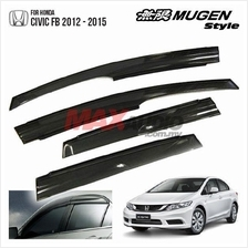 HONDA CIVIC FB 2012 - 2015 Mugen Style Premium Quality Door Visor