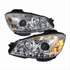 MERCEDES W204 C-Class 2008 - 2010 Starline Projector Head Lamp *Chrome