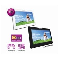 AVF 15'' 1024X768 PHOTO FRAME (APF1501) WHITE/BLACK