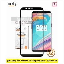 Orzly Twin Pack 2.5D Pro-Fit Full Adhesive Tempered Glass OnePlus 5T