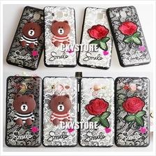 SAMSUNG J2 Prime / J7 Prime / J7 Plus Teddy bear Flower Trendy Case
