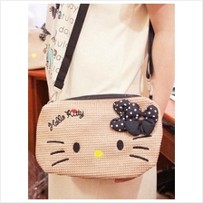Hello Kitty Straw Bag 2015 ~square sling bag