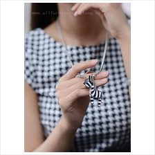 YN-7140	Three-dimensional zebra retro necklace  立体&#2600..