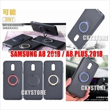 Samsung Galaxy A8 / A8 Plus 2018 IFACE Magnetic Ring Stand Case
