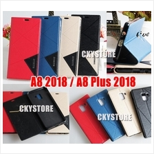 Samsung Galaxy A8 / A8 Plus 2018 Standable Flip Case with Pocket