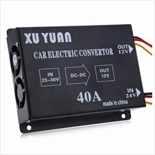 40A DC 24V TO 12V VOLTAGE REDUCER EFFICIENT CAR POWER SUPPLY TRANSFORM