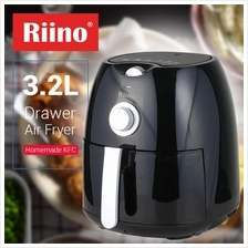 Riino Rapid Air Fryer 3.2L Drawer Easy Aerodynamic Kitchen Cooker