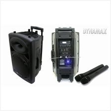 Dynamax Active Portable Speaker System 10 inch with Wireless Microphon