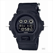 CASIO DW-6900BBN-1 G-SHOCK digital military black cloth strap SC