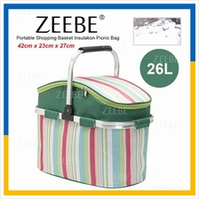 ZEEBE 26L Large Insulated Thermal Lunch Box Warm Cooler Food Bag GW008