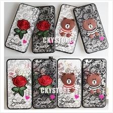 APPLE IPHONE 5 5S SE 6 7 8 PLUS Teddy Bear Flower Back Case