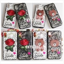 APPLE IPHONE X Teddy Bear Flower Back Case