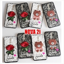 HUAWEI Nova 2i Teddy Bear Flower Back Case